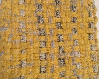 Rustic Yellow with Black Potholder/Trivet