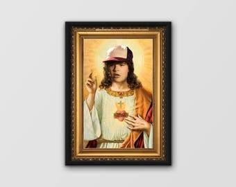 Stranger Things poster / Dustin as Jesus  / Dustin Stranger Things poster / Netflix Poster, unique hand designed & printed A3 poster