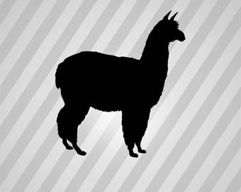 alpaca Silhouette - Svg Dxf Eps Silhouette Rld RDWorks Pdf Png AI Files Digital Cut Vector File Svg File Cricut Laser Cut
