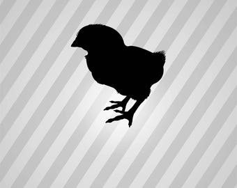 baby chick silhouette svg dxf eps silhouette rld rdworks pdf png ai files digital cut
