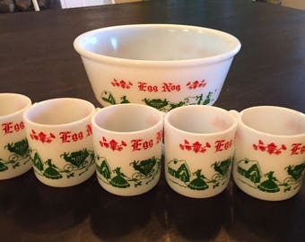 Vintage Tom and Jerry Vintage Punch Bowl set / egg nog