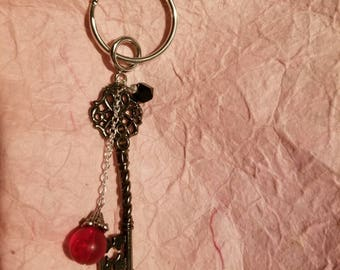 Red and Black Key Keychain