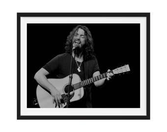 Chris Cornell, 1964-2017, Chris Cornell Memorial Poster,  Memorial Artwork, Chris Cornell Layered Tribute Fine Art