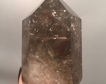Smoky Quartz Generator with Lodolite Inclusions