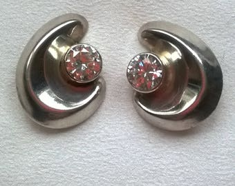 Vintage Mexico Silver earclips. Orquidia TS-62 950.
