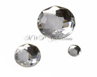 RHINESTONE Glamour round stones - many colors available-
