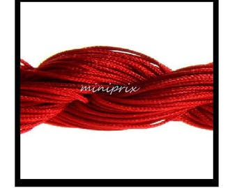 X 5 meters of thread nylon macramé red shamballa
