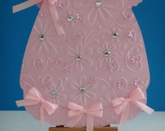 Pale pink baby birth to make you even dress card Kit