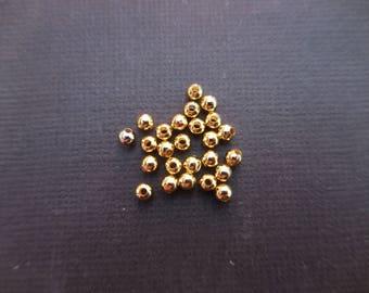 3 mm diameter gold metal balls * 1 set of 50 beads