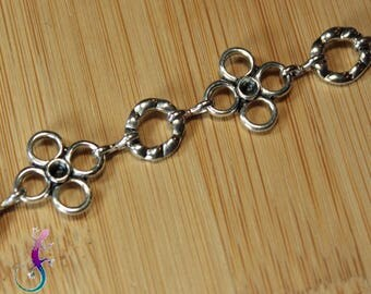 Antique silver metal chain style medieval A308