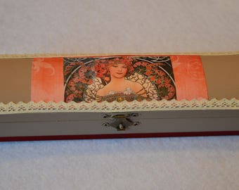 Glasses case or retro style pencil box