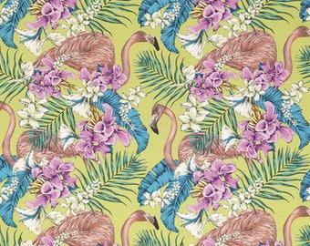Pink flamingos fabric