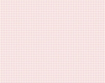 Fabric, coupon, 50/35 cm, TILDA pink gingham, pink gingham, 26 480648C, patchwork