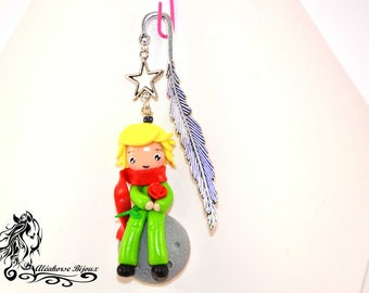 Little Prince in polymer clay fimo bookmark