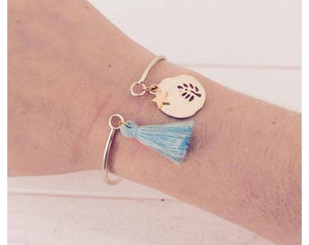 Bohemian gold and turquoise bracelet