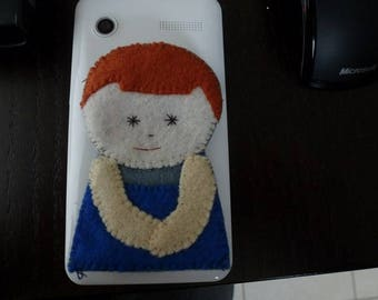 benjamin little snowman felt finger puppet