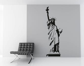 Statue of Liberty wall sticker, wall decal decor, city removable vinyl wall art