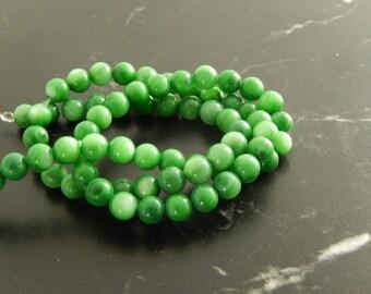 10 beads of Jade green 6 mm ref 477