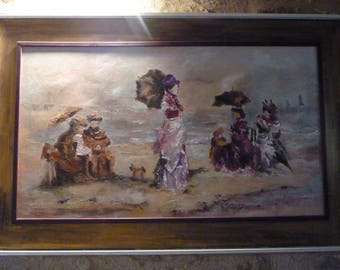 "Painting oil painting ""The ladies of the beach"" by E.Boudin"