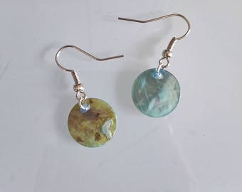 Genuine sky blue mother of Pearl Earring