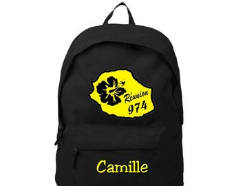 Meeting black backpack personalized with name