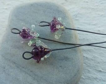 Flower bouquet - handcrafed Stud steel hooks