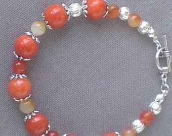 Bracelet: Ode to the orange and yellow jade
