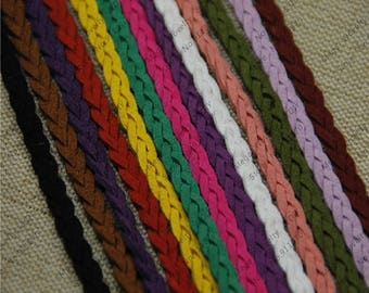 braided suede colors 98cm (approx.)
