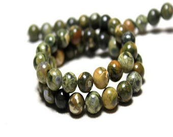 Kambala Jasper: 20 beads semi precious 6mm