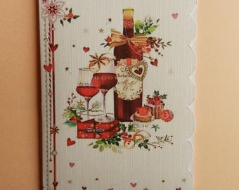 Greeting card. Handmade Christmas card