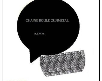 BALL chain 2.4 mm. GUNMETAL.