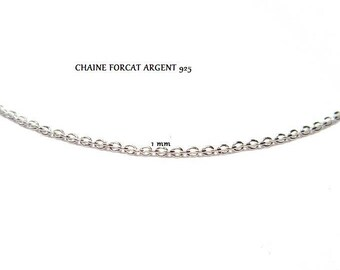 925 STERLING SILVER TRACE CHAIN 1.1 MM