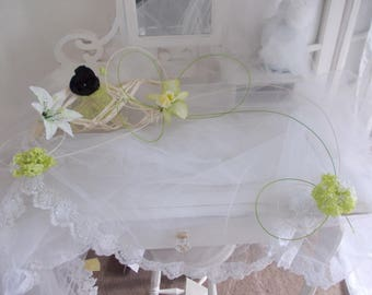centerpiece lime green wedding christening etc