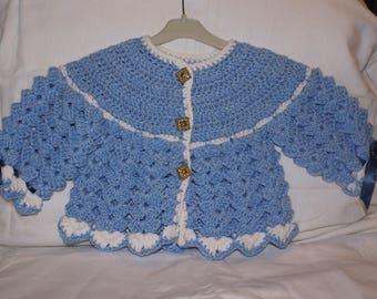 Blue and white bra