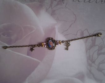 Princess girl on a chain bracelet