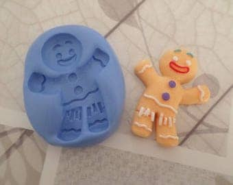 Fimo mold large gingerbread cookie 5cm