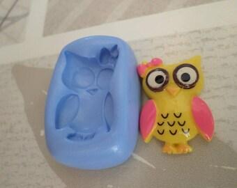 """""""OWL Owl 2 cm"""" flexible silicone mold"""