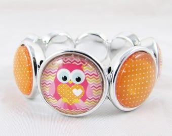 "Bracelet ""my little ' owls tites"", extendable REF BV004"