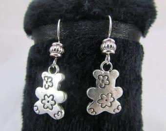 "Earring hooks with ""Little bears"" pendant"""