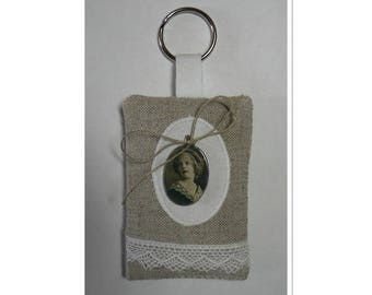 Keychain filled with Lavender pendant with child's