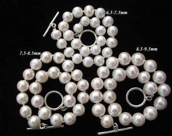 Classic Cultrue fresh water pearl bracelet white 8.5 - 9.5