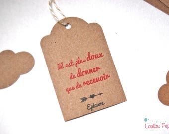 Quote Epicure - recycled paper - set of 10 gift tags