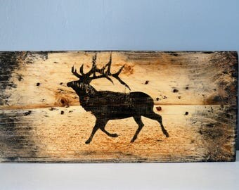 frame thick table decor Scandinavian deer