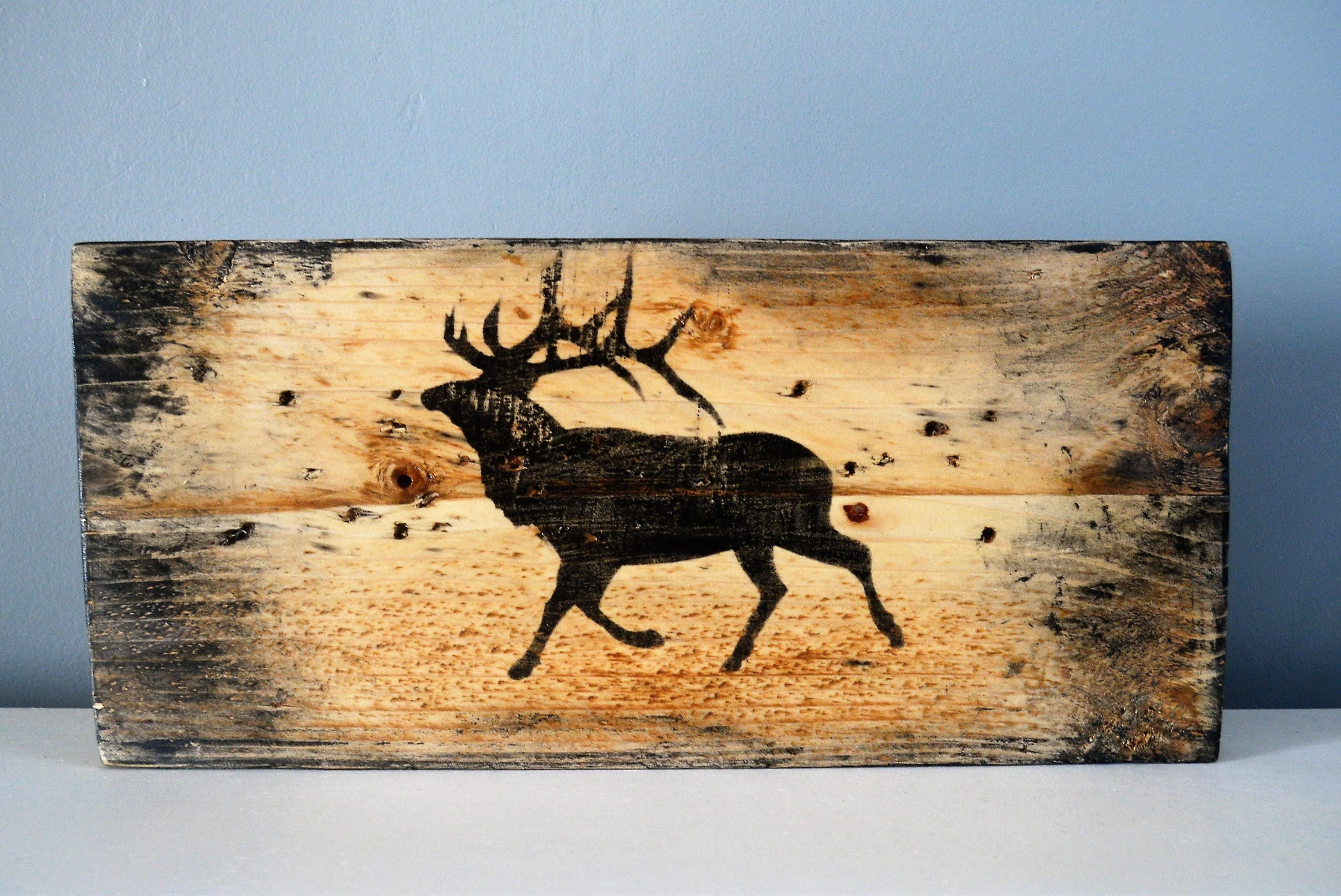 Perfect Wood Antlers Wall Decor Crest - Wall Art Collections ...