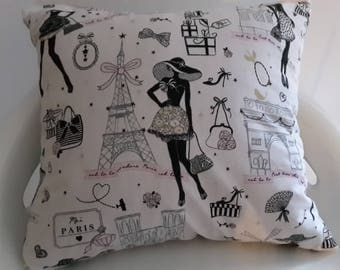 "Cushion cover 30 x 30 cm ""Paris"""