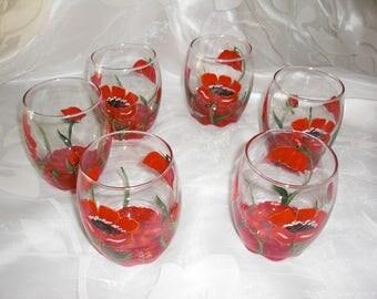 PAINTED APERITIF GLASSES