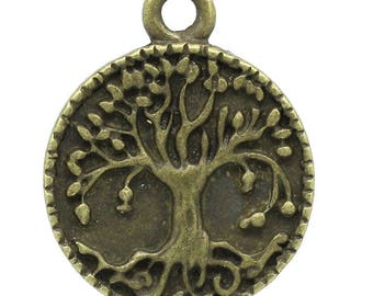 10 charms tree of life medal size 22 x 17 mms