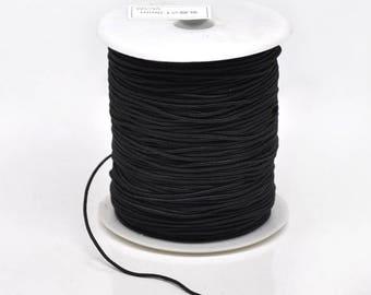 3 m wire 1 mm thick black stretch