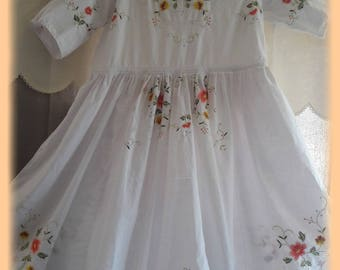 ROBE shabby chic beautiful embroidery large size