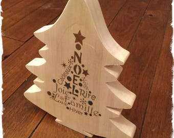 Scalloped hand wooden Christmas tree